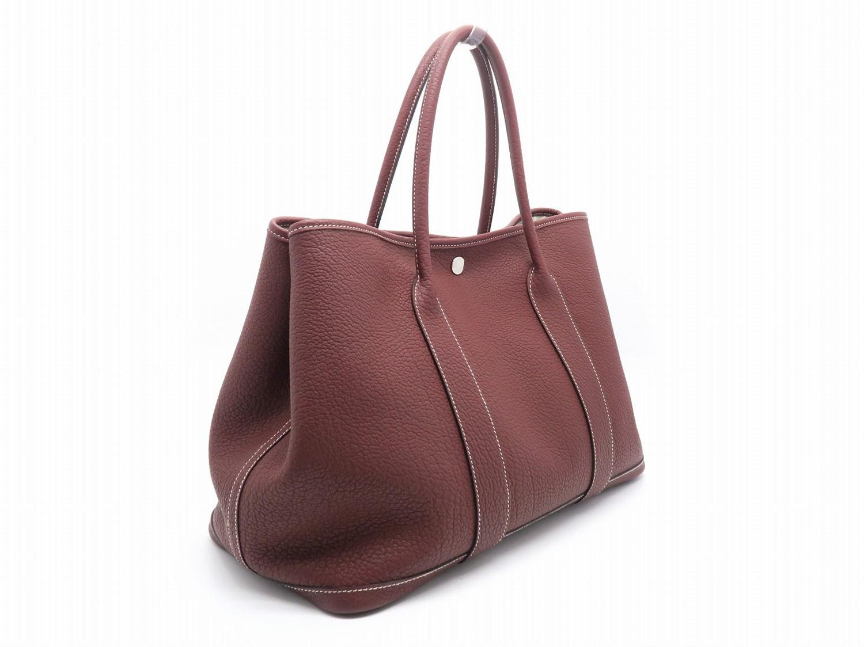 a11c4a99a410 Lyst - Hermès Negonda Leather Gardenparty Pm Tote Bag Rouge H  Dark ...