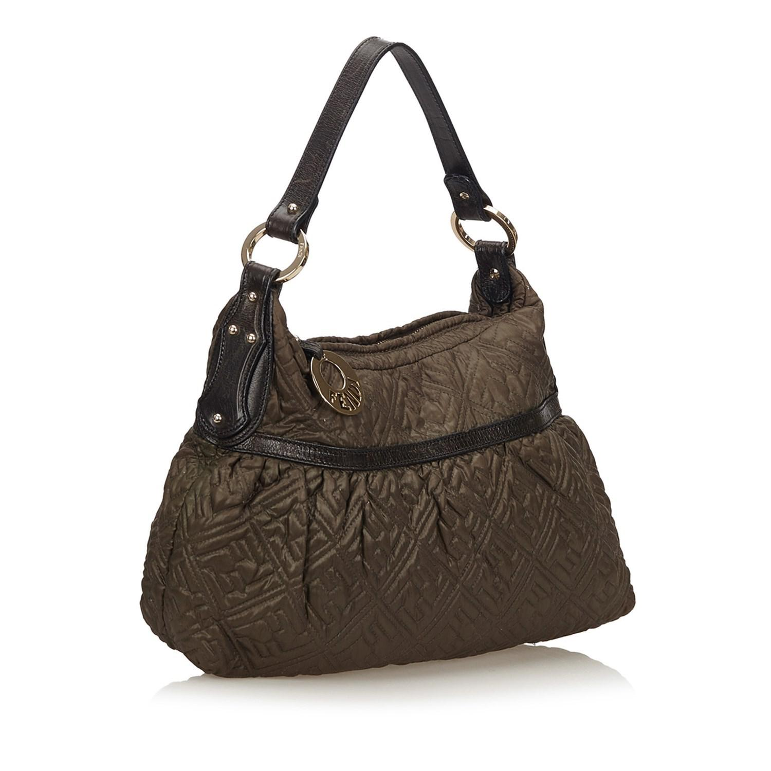 cdba100400cf ... 50% off fendi brown nylon chef bag lyst. view fullscreen 70085 5a22a ...