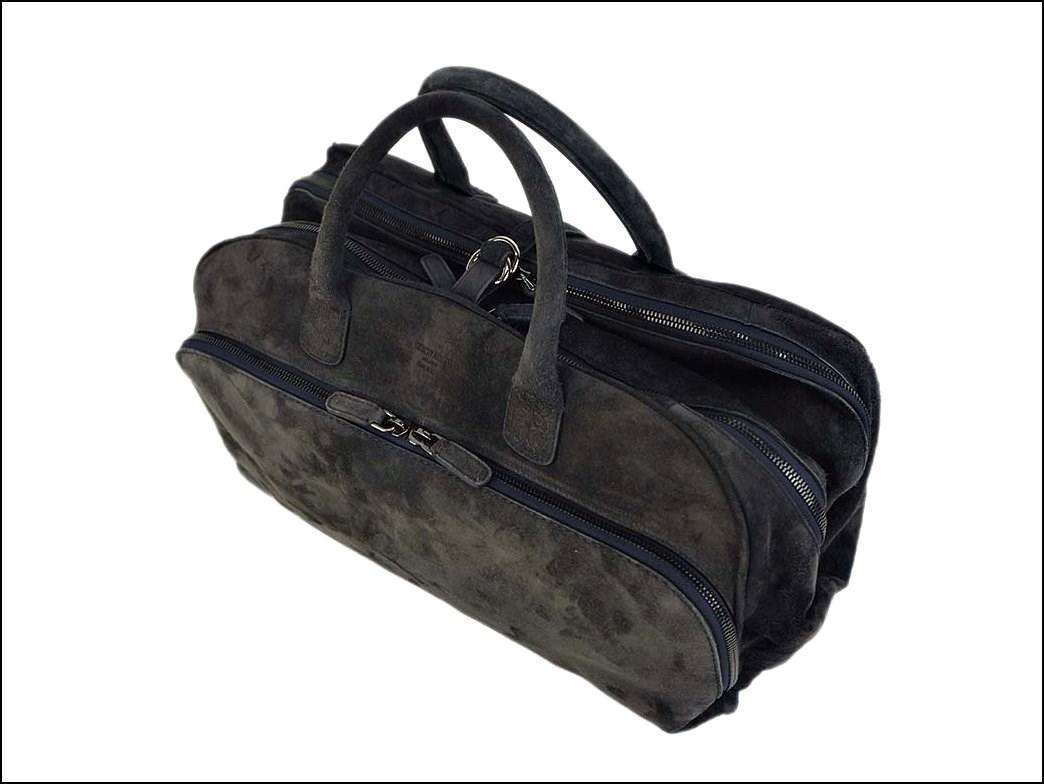 cbaab0ceb3 Lyst - Giorgio Armani Unused Suede Boston Bag Navy Y2q083 Men s Calf ...