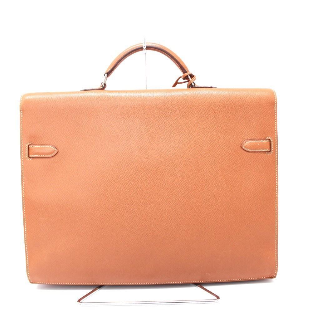 dd2aa6ea873c Lyst - Hermès Kelly Depeche 38 Briefcase Gold silverhardware Epsom ...
