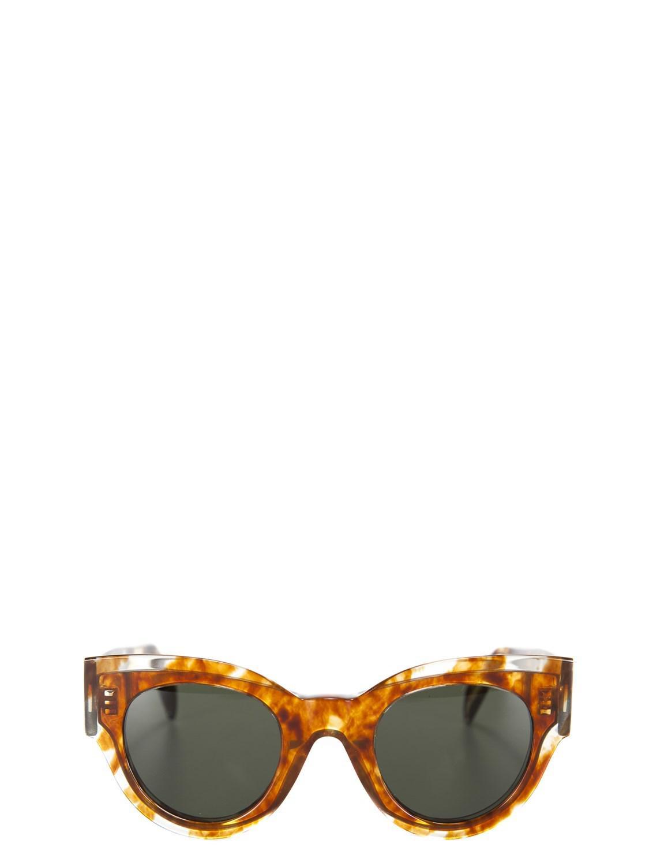 5ca8597a069 Lyst - Céline Céline Women s 40008cplb19sc Brown Acetate Sunglasses ...