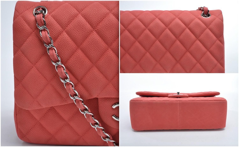 53e3719bd928ea Chanel Jumbo Flap In Salmon Pink in Orange - Lyst