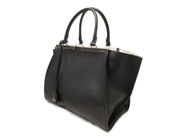 a1244a2ad2 Lyst - Fendi 3jours Hand 2way Shoulder Bag 8bh279 Calf Leather Black ...