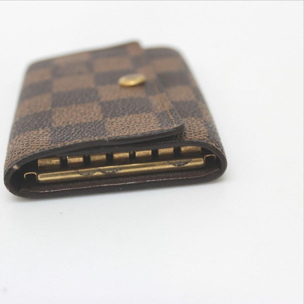 d5ae13f0cc21 Lyst - Louis Vuitton Damier Multicles 6 Key Case Ebene N62630 in Brown