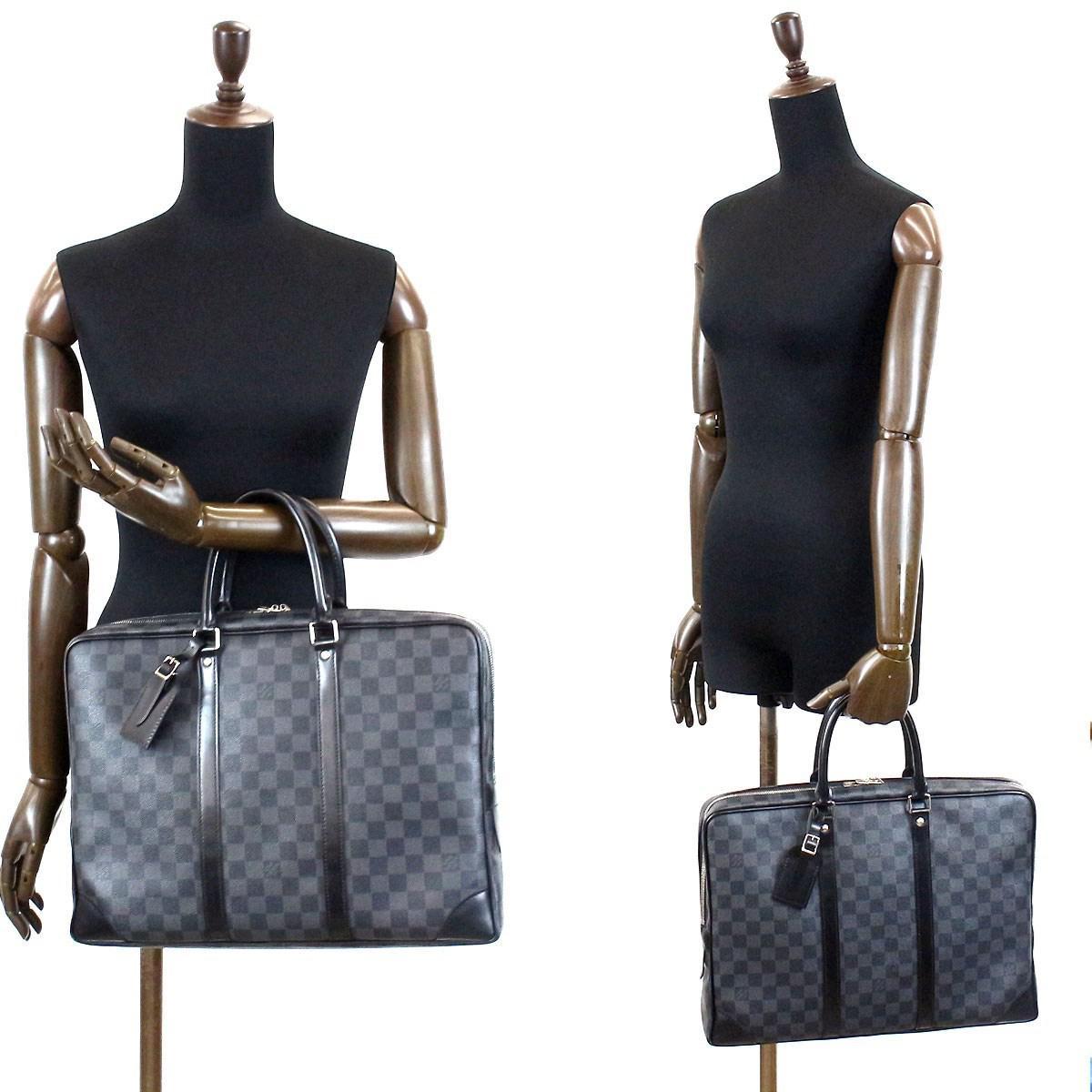 0c6c9862ea3 Louis Vuitton Damie Graphite Porte Documents Voyage Bag N41125 ...