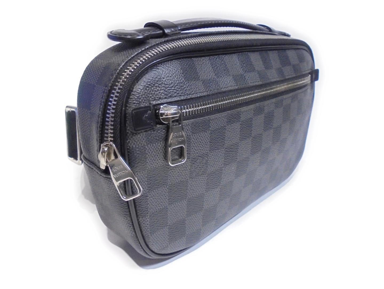 aaf8f5c023b2 Lyst - Louis Vuitton Ambler Body Bag Damier Graphite Canvas Black ...