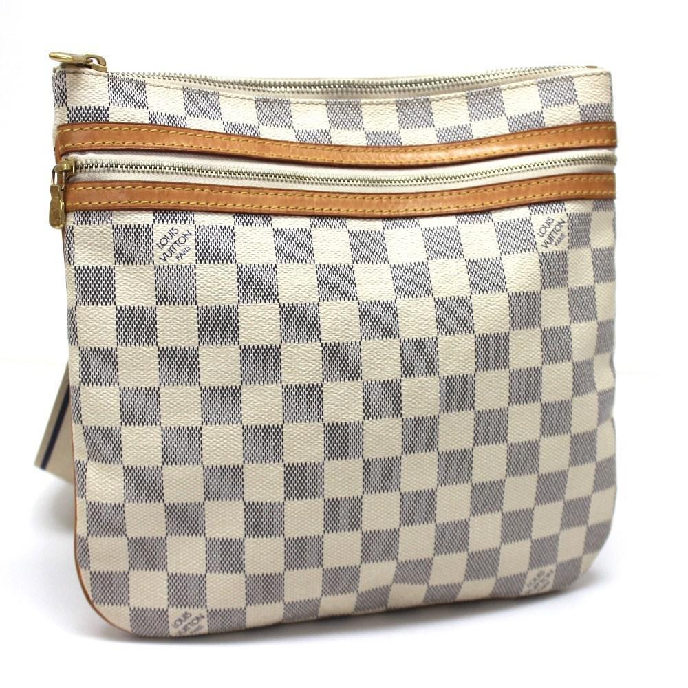 a170f7494730 Lyst - Louis Vuitton Damier Azur Pochette Bosphore Crossbody Men s ...
