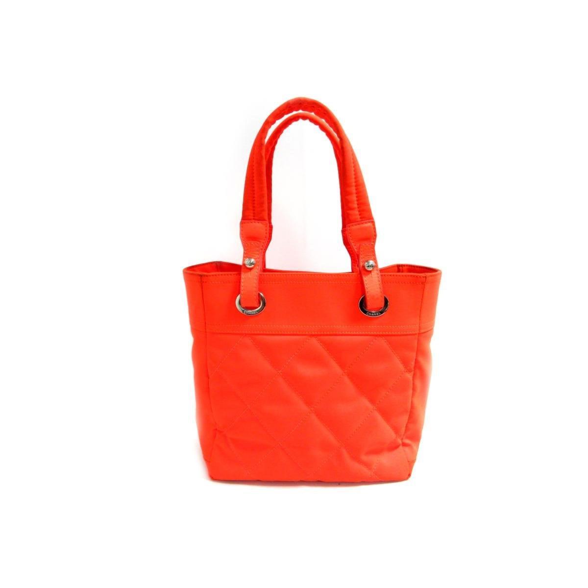 0918bb9580582c Chanel Authentic Paris Biarritz Tote Pm Tote Bag Canvas X Leather ...