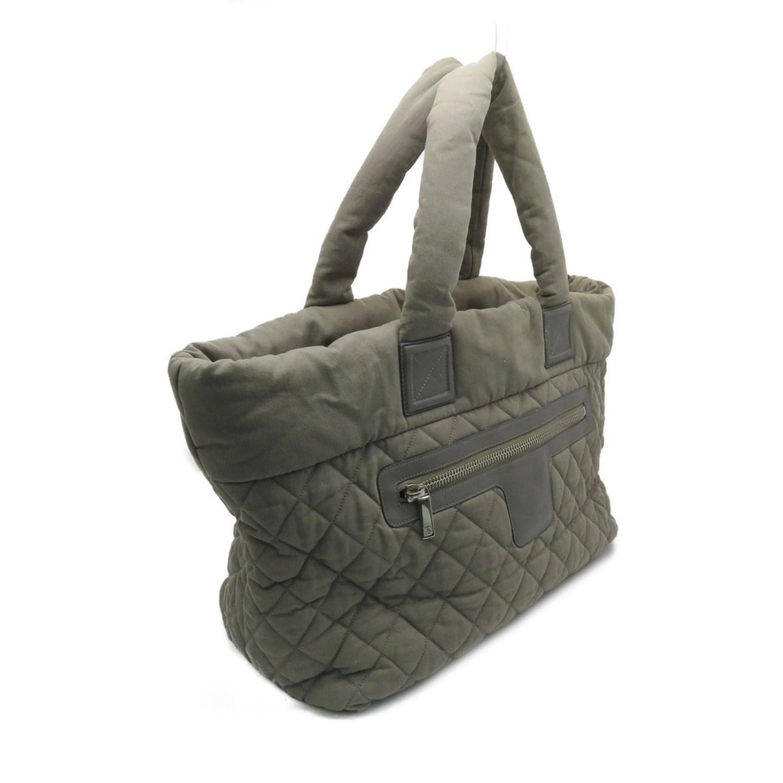 6b6209d7a29d40 Chanel - Matelasse Cc Coco Cocoon Tote Bag Shopper Grey Green Fabric 5800 -  Lyst. View fullscreen