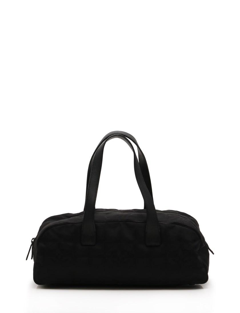 2788cb90915d Lyst - Chanel New Travel Line Handbag Mini Boston Nylon Canvas ...