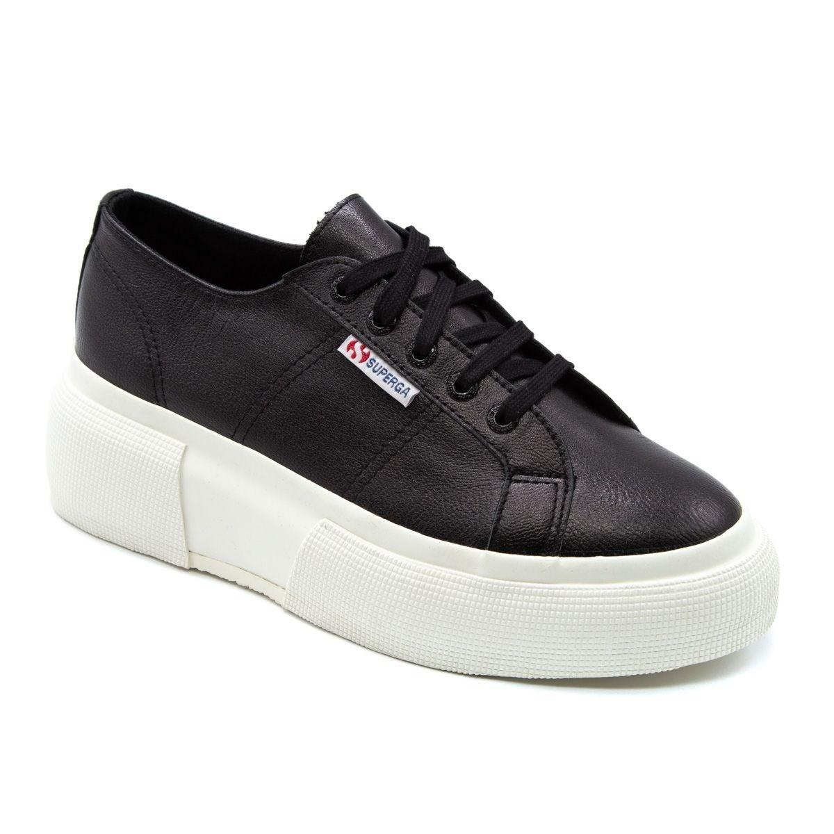 Superga - Women s S00dq70999 Black Leather Sneakers - Lyst. View fullscreen 3303bd24a