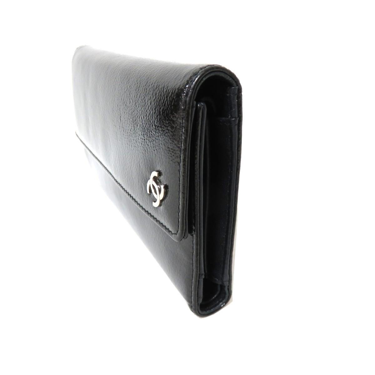 1bf443d137a533 Chanel - Authentic Trifold Wallet Purse Enamel Black Used Vintage - Lyst.  View fullscreen