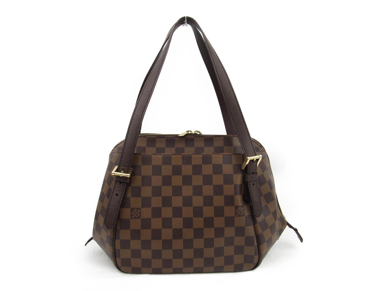 57333d8d4e85 Louis Vuitton. Women s Brown Authentic Belem Mm Shoulder Bag N51174 Damier  Used Vintage