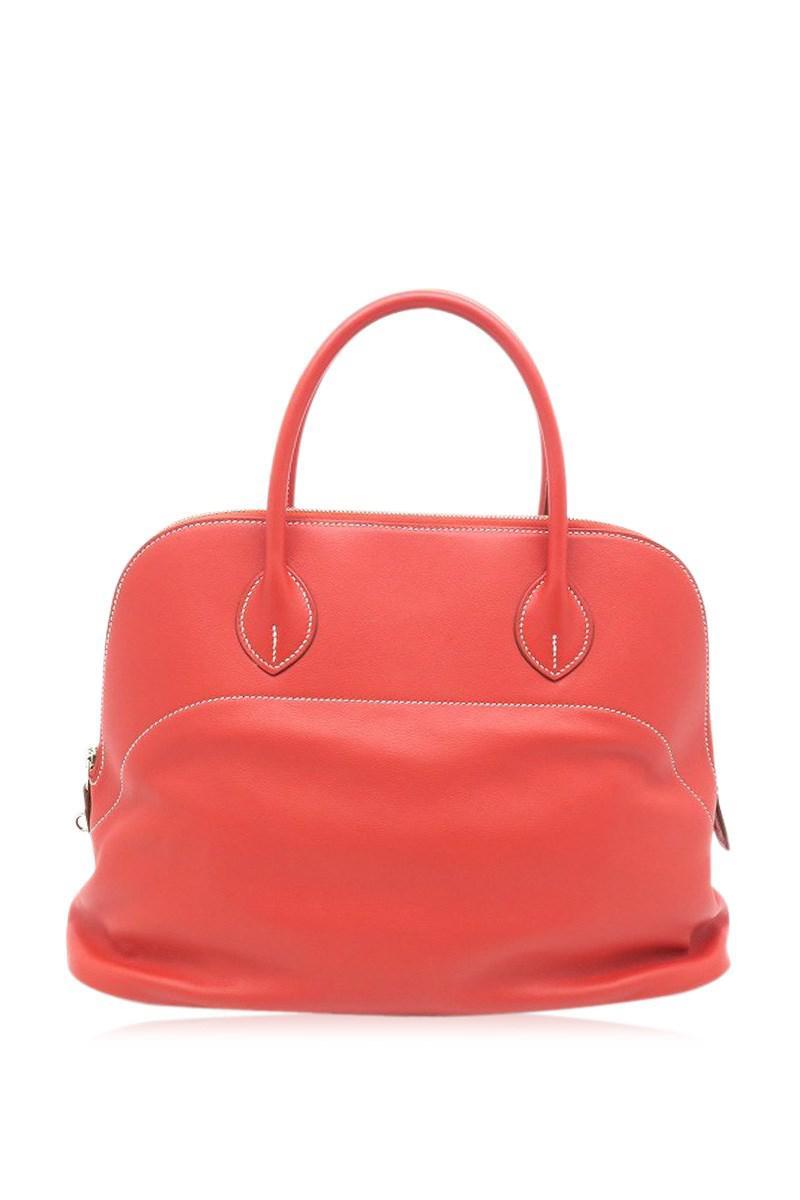 5c82900adcf5 Lyst - Hermès Sikkim Leather Bolide Relax35 Tote Bag Handbag Rose ...