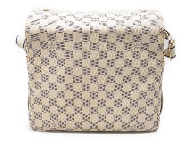 8e01fe09476c Lyst - Louis Vuitton Damier Azur Naviglio Shoulder Crossbody Bag ...