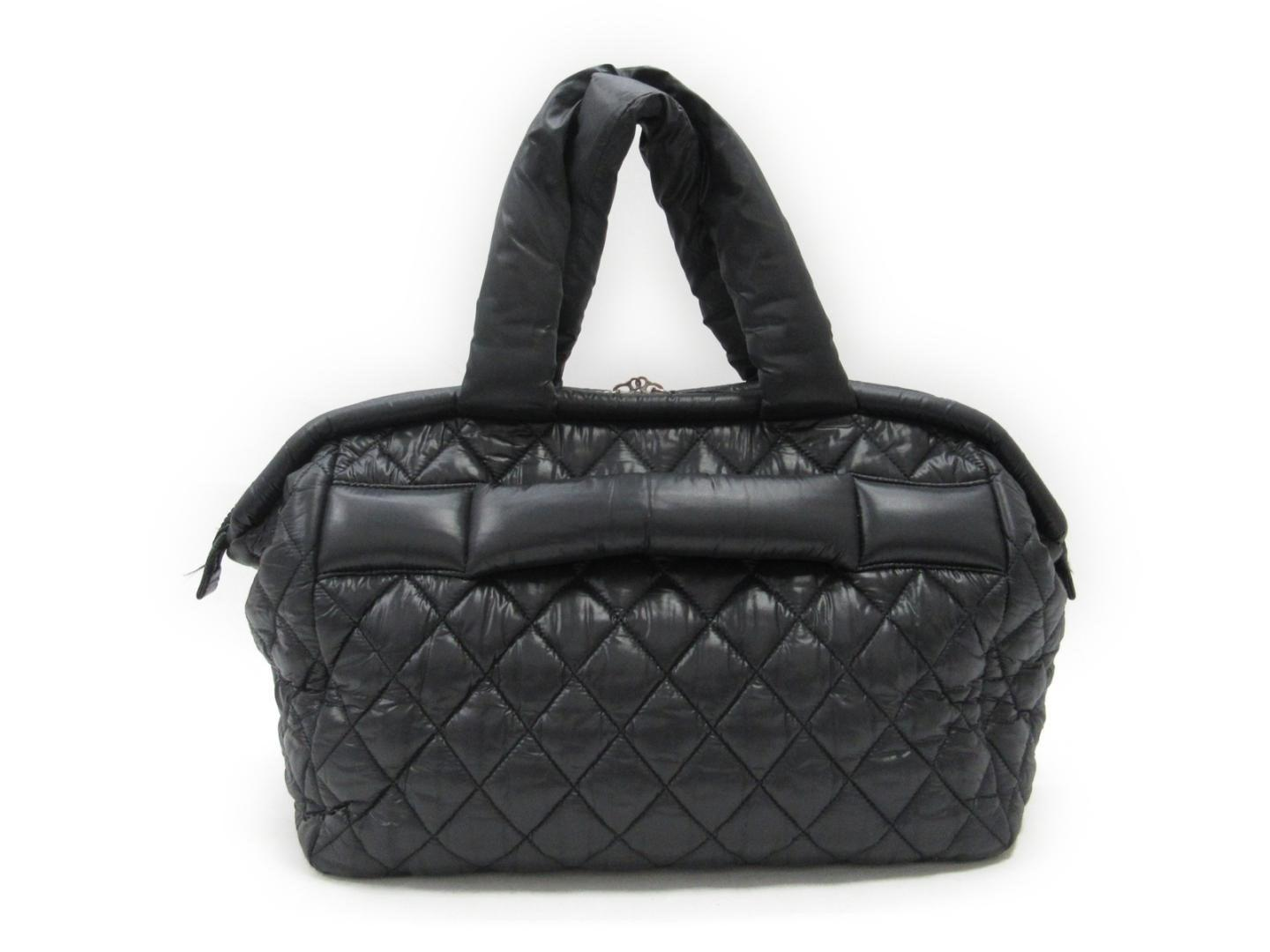 664d7b85289a78 Lyst - Chanel Coco Cocoon Tote Bag Nylon Black in Black