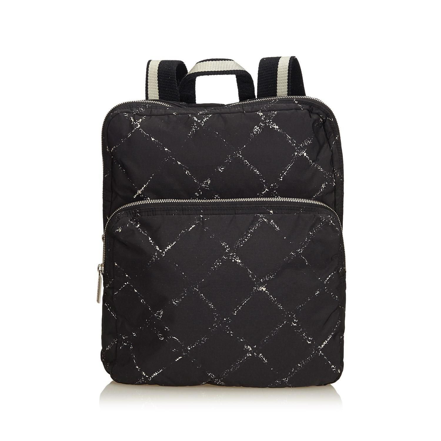 Lyst - Chanel Old Travel Line Backpack in Black 4395175457150