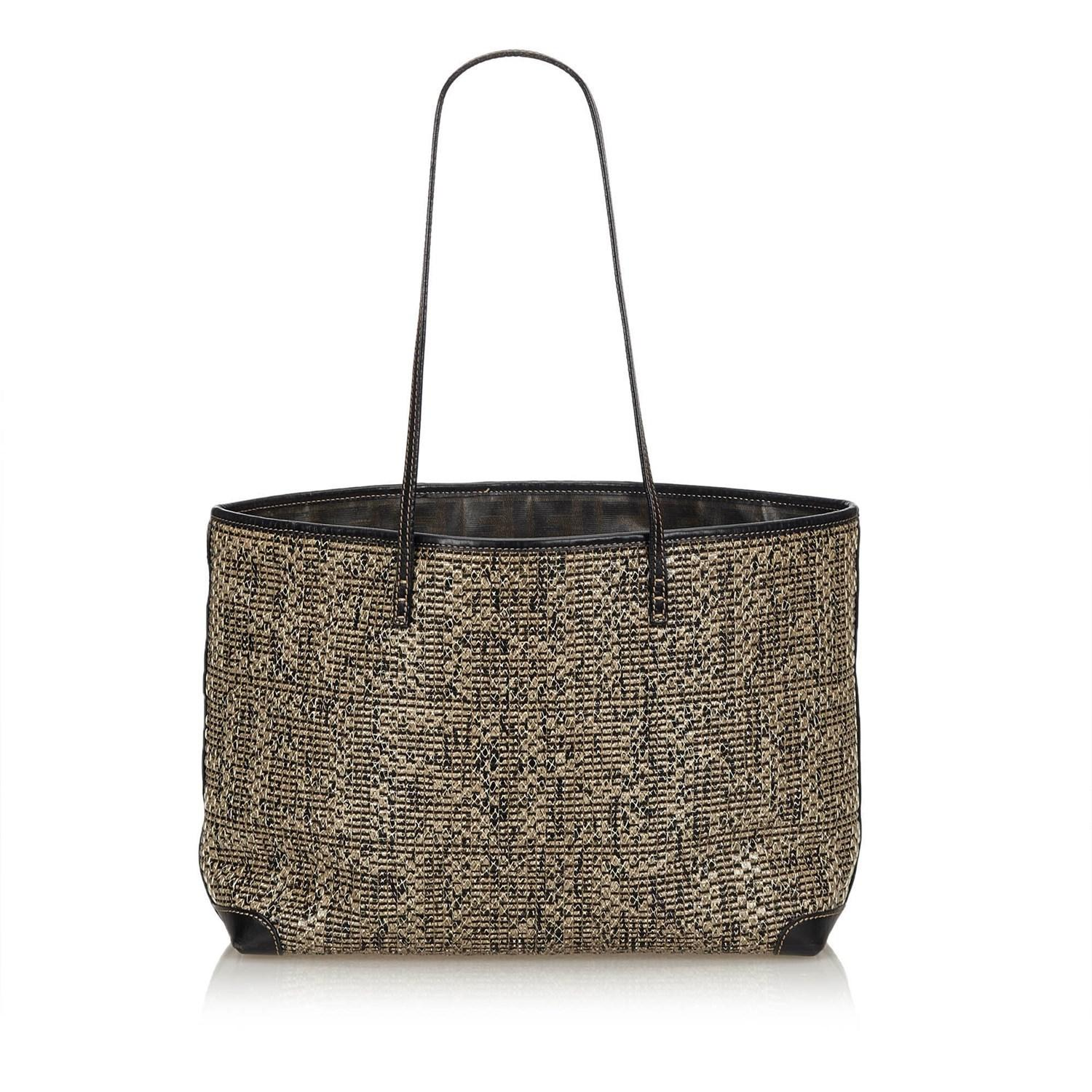 Lyst - Fendi Braided Leather Tote Bag in Brown 29b285628a302