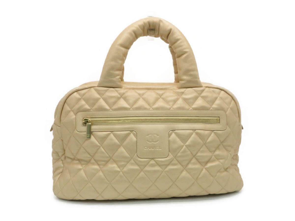 9feee958f282 Chanel Coco Cocoon Tote Bag Handbag Calfskin Leather Gold 2007 in ...