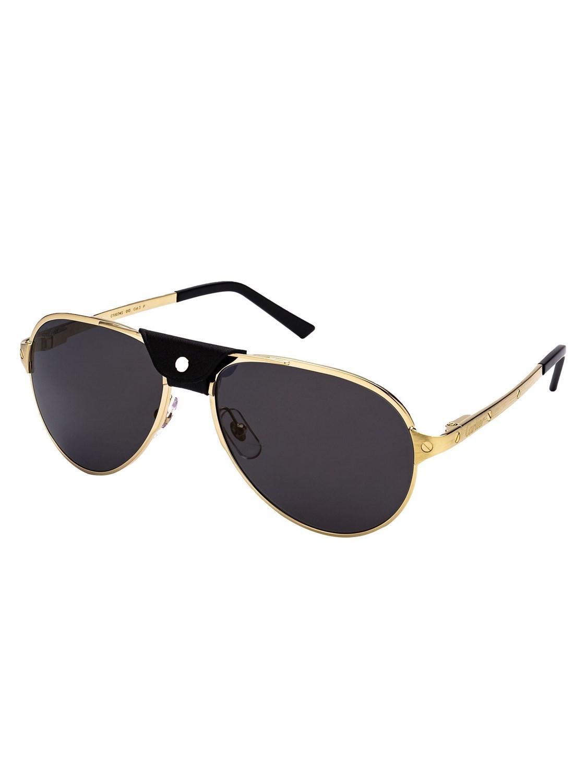 8bfc54f25c Cartier - Metallic Men s Ct0034sc013 Gold Metal Sunglasses for Men - Lyst.  View fullscreen