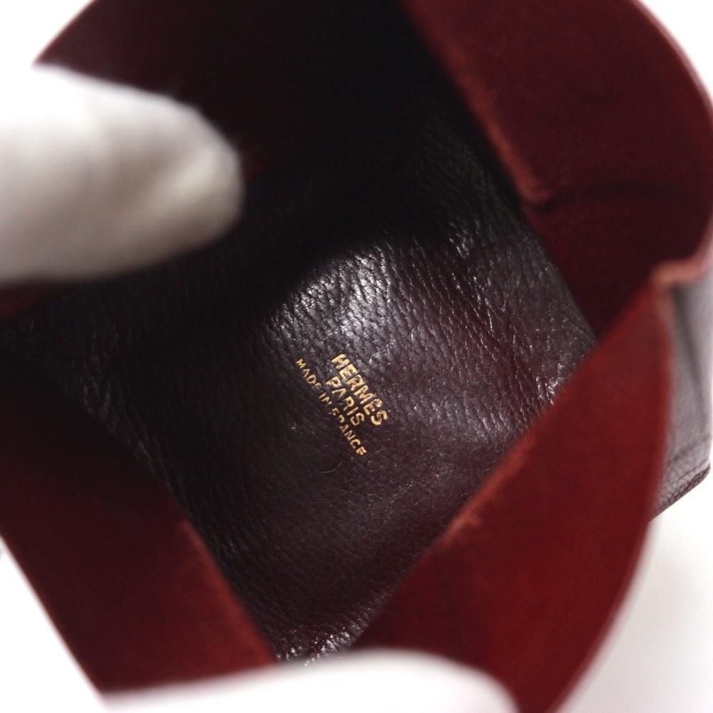 ca9ac5b9df Lyst - Hermès Zulu Coin Pocket Men s Women s Coin Purse Red Chevre ...