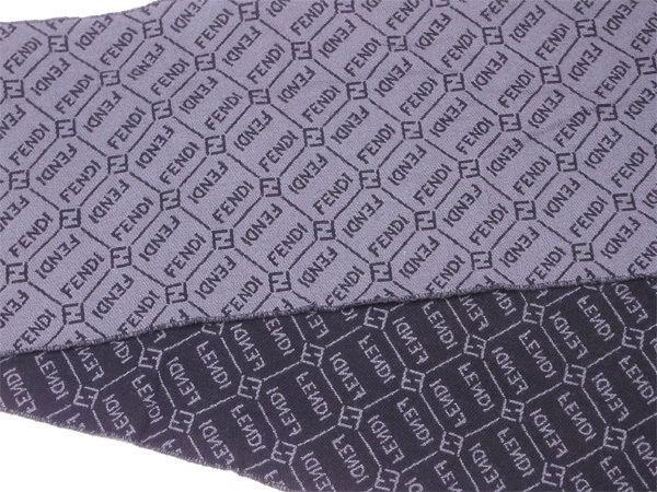 Lyst - Fendi Muffler Logo Pattern Unisexused T3208 in Gray bb57f6ef3c4c