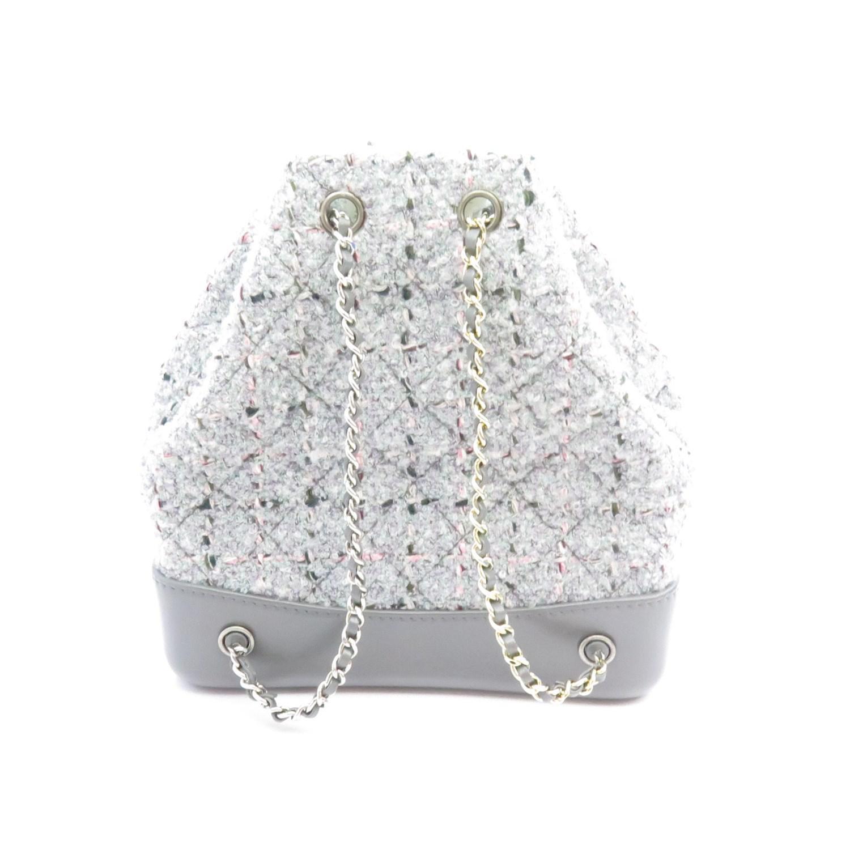 4fb3de7c1061 Chanel Gabrielle Backpack Grey Tweed/calf A94485 in Gray - Lyst