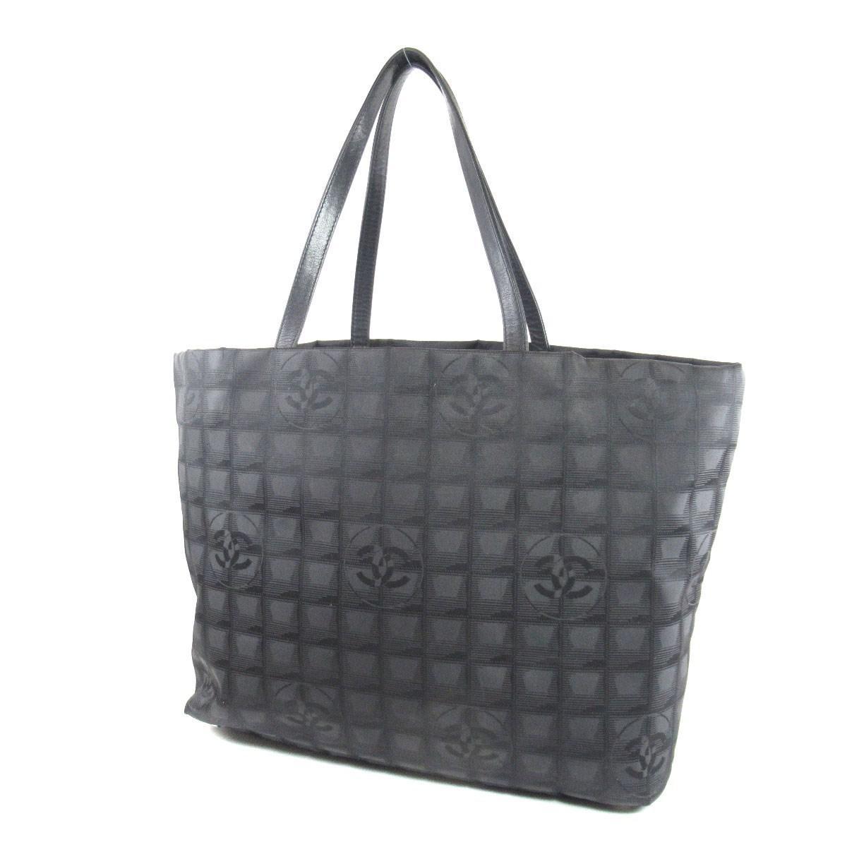96715777839 Lyst - Chanel Nylon Jacquard Tote Bag New Travel Line Mm in Black