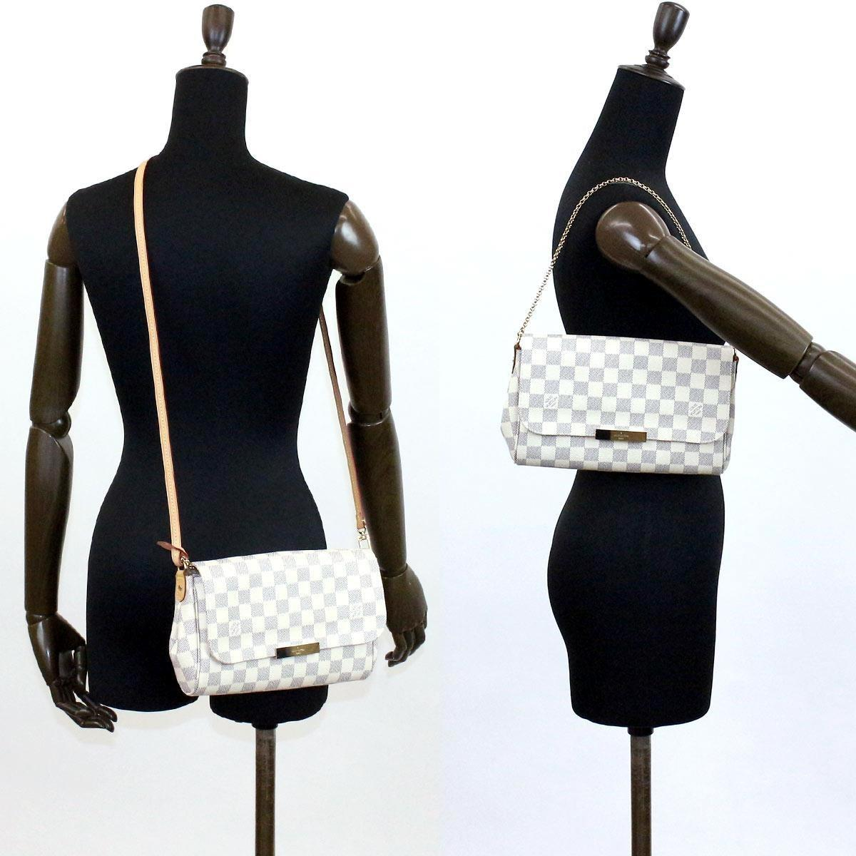 00dd4dd4da0e Lyst - Louis Vuitton Damier Azur Favorite Mm 2way Shoulder Bag ...