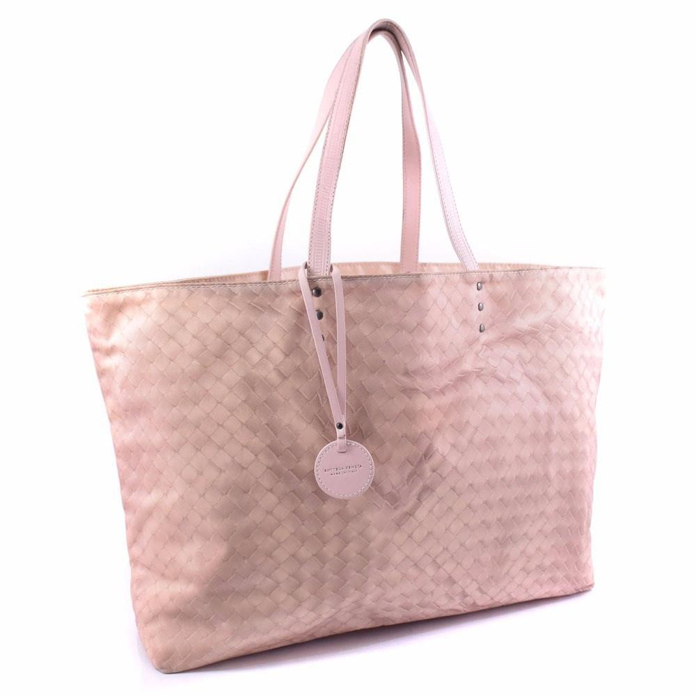 5582c10349 Lyst - Bottega Veneta Bottegaveneta Leather×nylon Pink Tote Bag ...