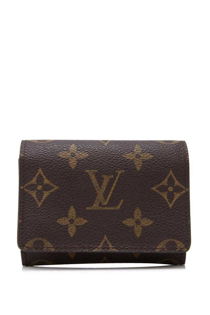 Lyst louis vuitton pre owned monogram business card holder in brown louis vuitton womens brown pre owned monogram business card holder colourmoves