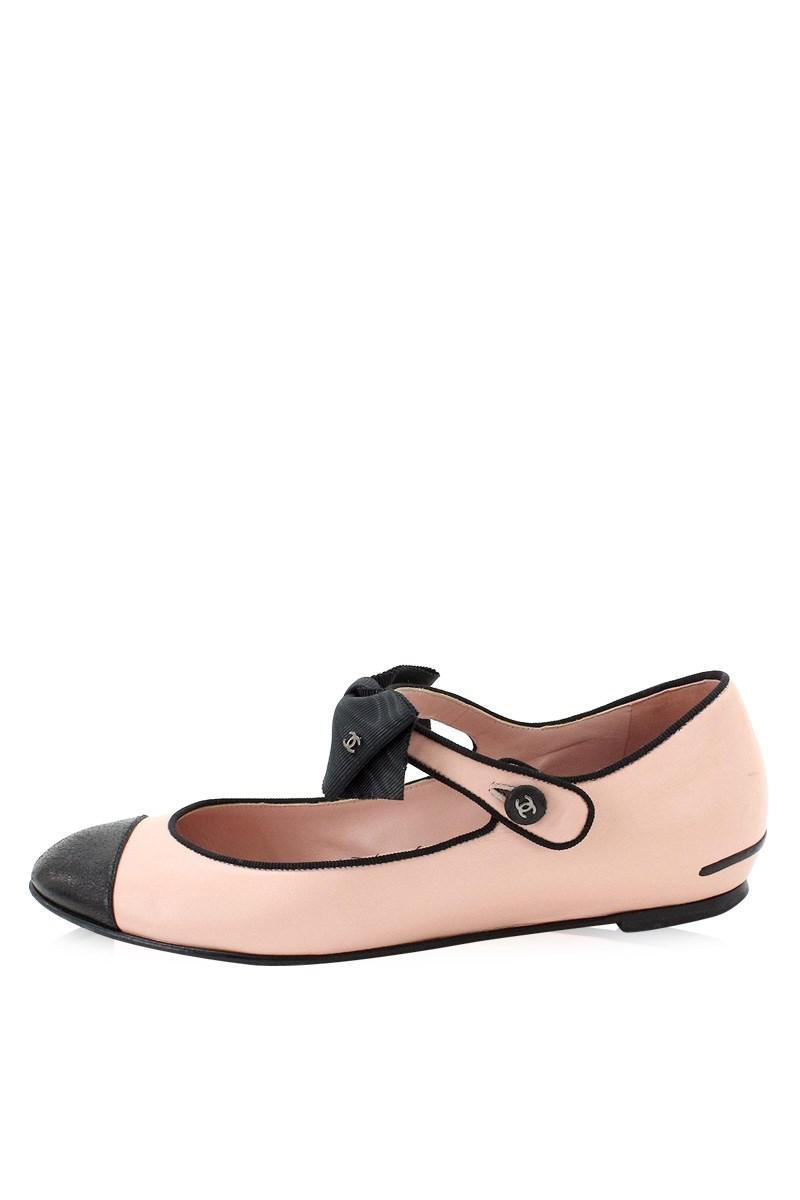 d549c7913307 Lyst Black Salmon 37 Leather Pumps Women s Flat Pink Shoes Chanel RqrSB0wR