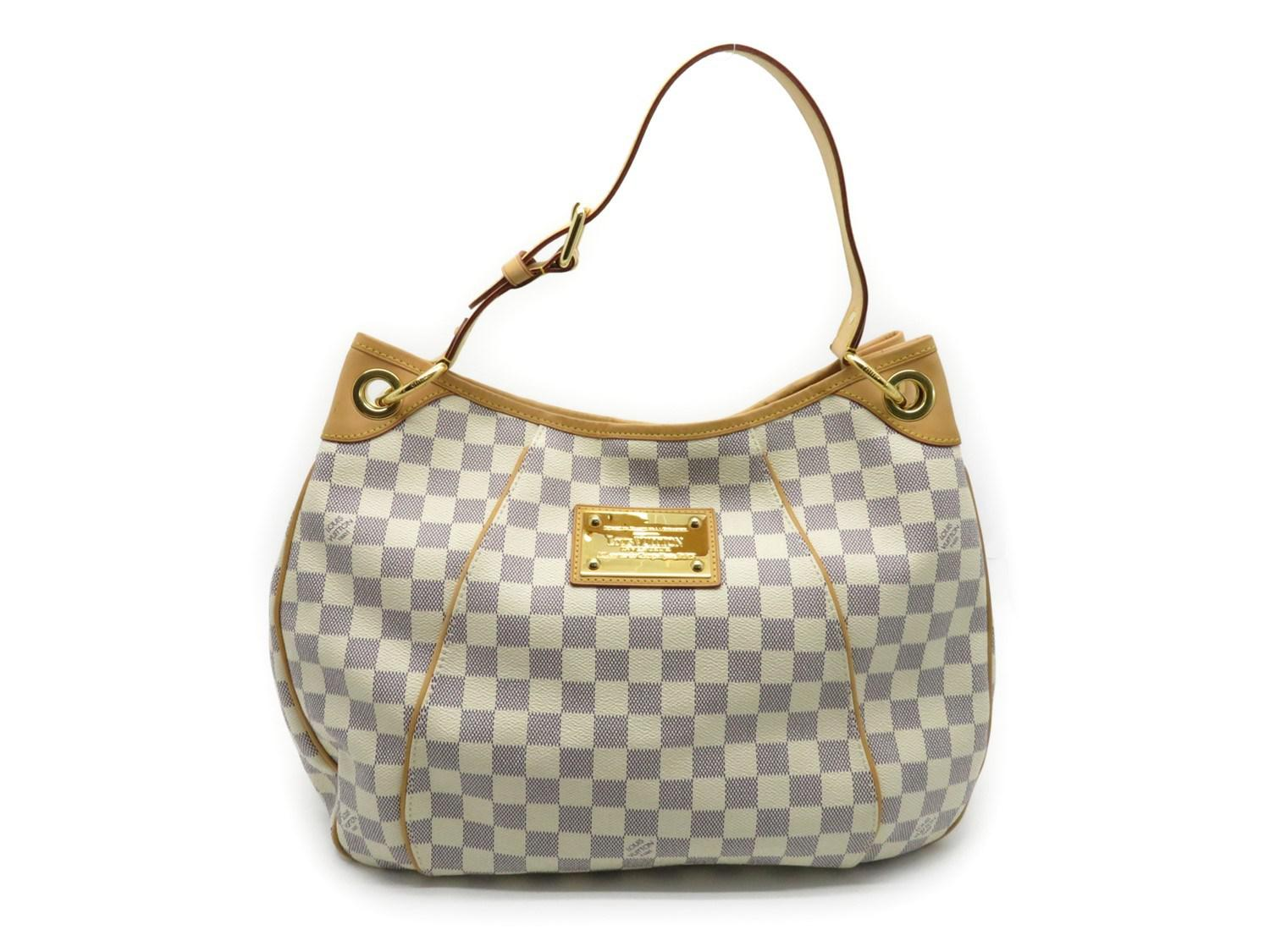 Lyst - Louis Vuitton Damier Azur Galliera Pm Shoulder Bag White ... f8799e7a7e32b