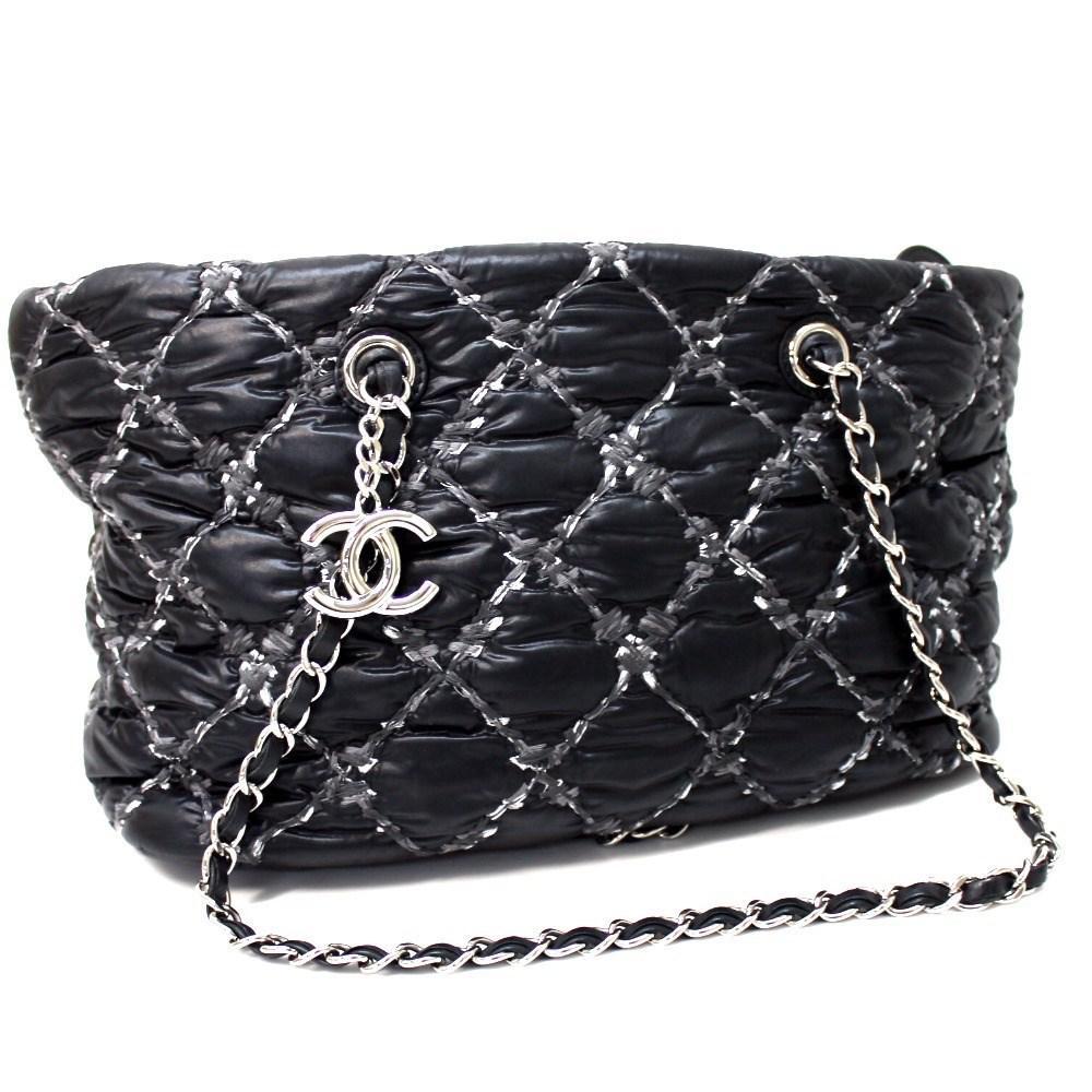d558624bdc8b Lyst - Chanel Paribisans Cc With Charm Tote Bag Chain Bag Shoulder ...