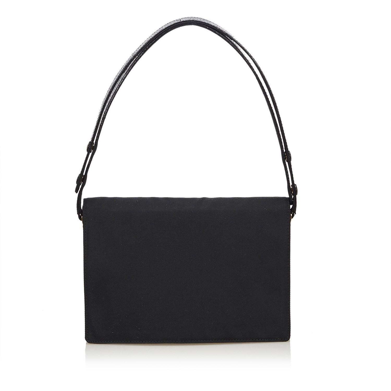 Fendi - Black Chemical Fiber Shoulder Bag - Lyst. View fullscreen 26911e45711dd