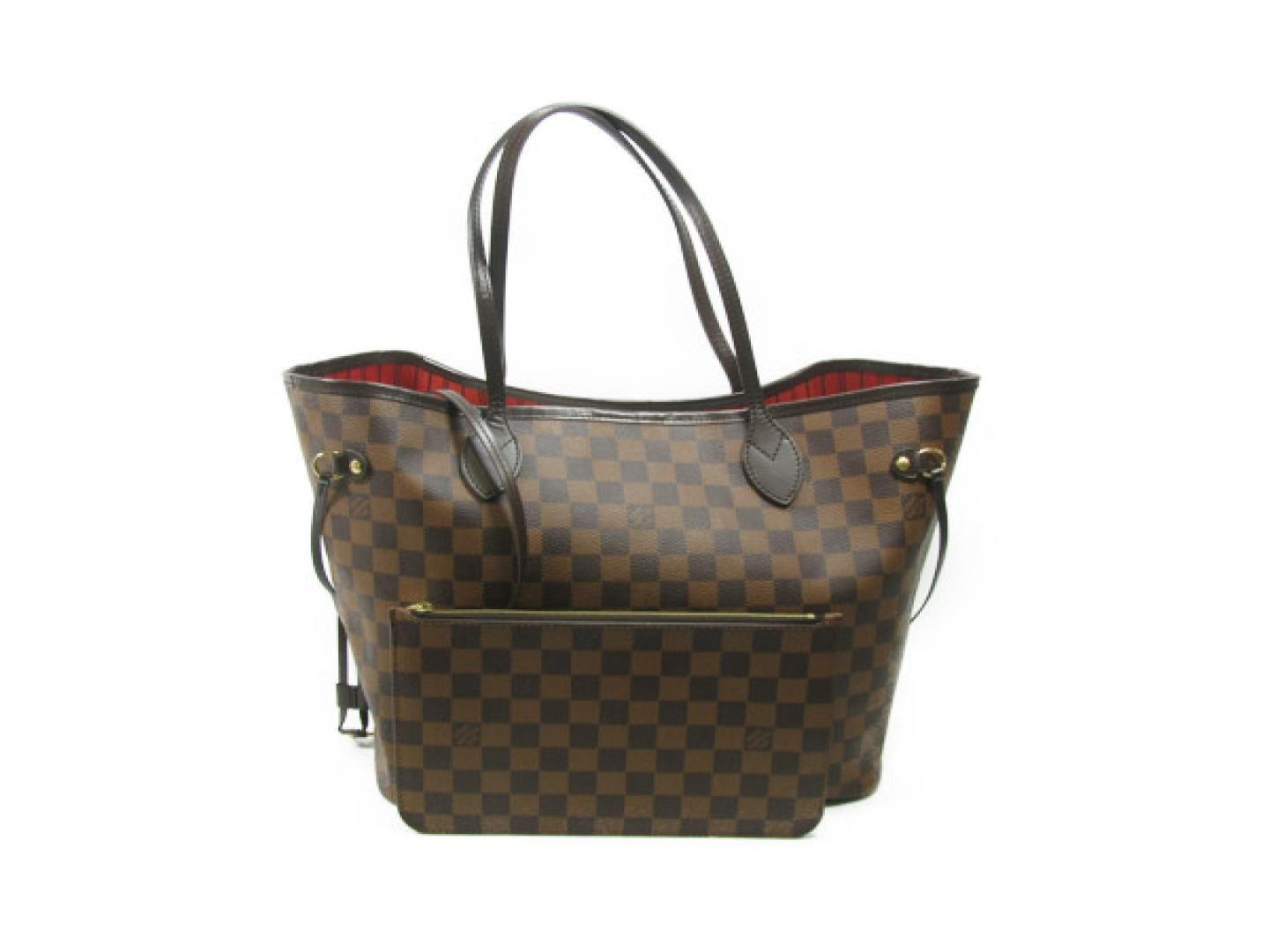 90c47759b655 Louis Vuitton. Women s Brown Neverfull Mm Shoulder Tote Bag Damier Ebene  Canvas N41358