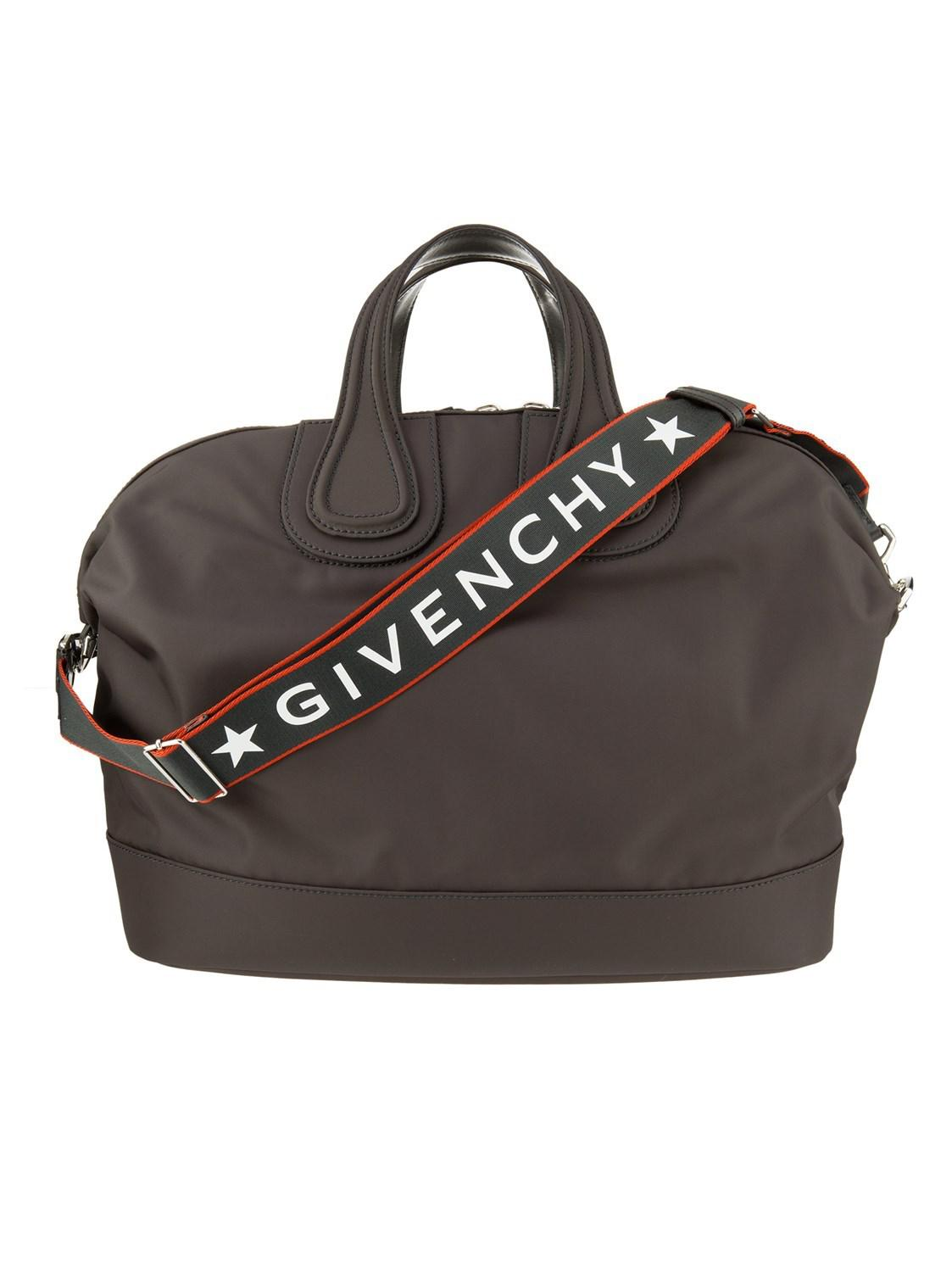 Lyst - Givenchy Black Nightingale Tote Bag In Polyamide With Canvas ... 74e97b45202d2