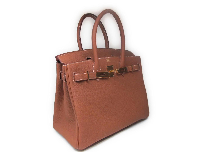 dc2b2567146 Lyst - Hermès Birkin 30 Handbag Totebag Togo Leather Gold Brown Ghw ...