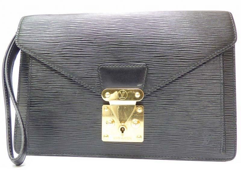 1cb364fe1323 Lyst - Louis Vuitton Authentic Epi Sellier Dragonne Clutch Hand Bag ...
