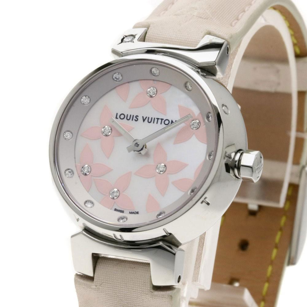 8772c95ee3a Lyst - Louis Vuitton Tambour Lovely Diamond Watches Q121h Stainless ...