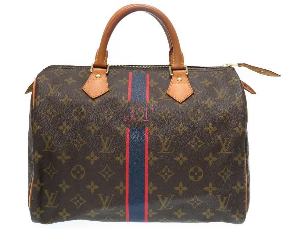 6c044abb9e18 Lyst - Louis Vuitton M 41108 Mon Monogram Speedy 30hand Bag Brown ...