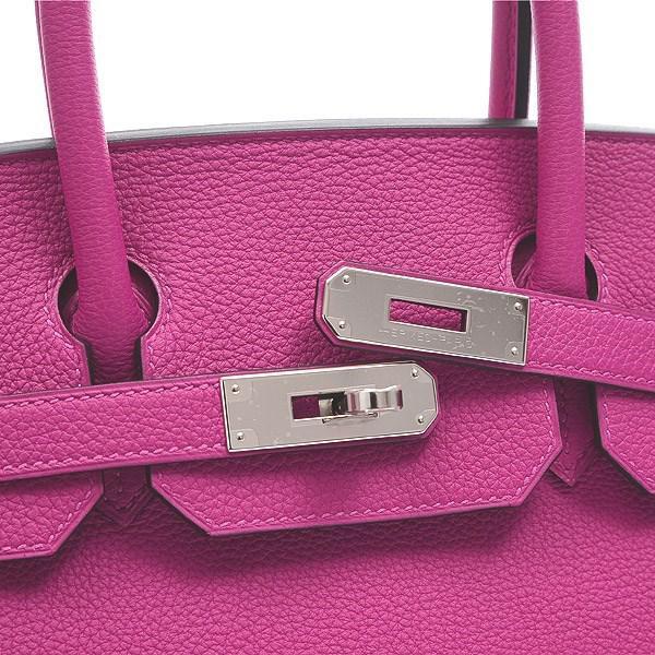 6f1bf6ac1670 Lyst - Hermès Birkin 30 Togo Rose Purple Silverhardware C Mark in Purple