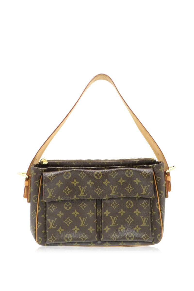Lyst - Louis Vuitton Monogram Viva Cite Gm Shoulder Bag Brown M51163 ... 7ea7270691