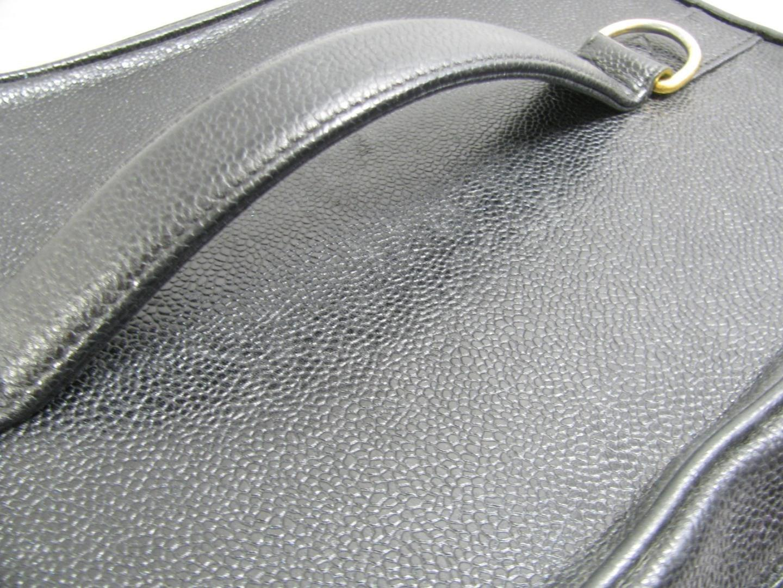 4a9af3bd3d513b Lyst - Chanel 2way Shoulder Bag Vanity Caviar Leather Black Cosmetic ...
