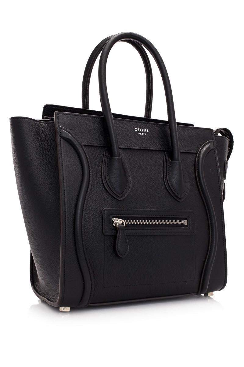 8f2389140685 Céline - Black Céline Micro Luggage - Lyst. View fullscreen