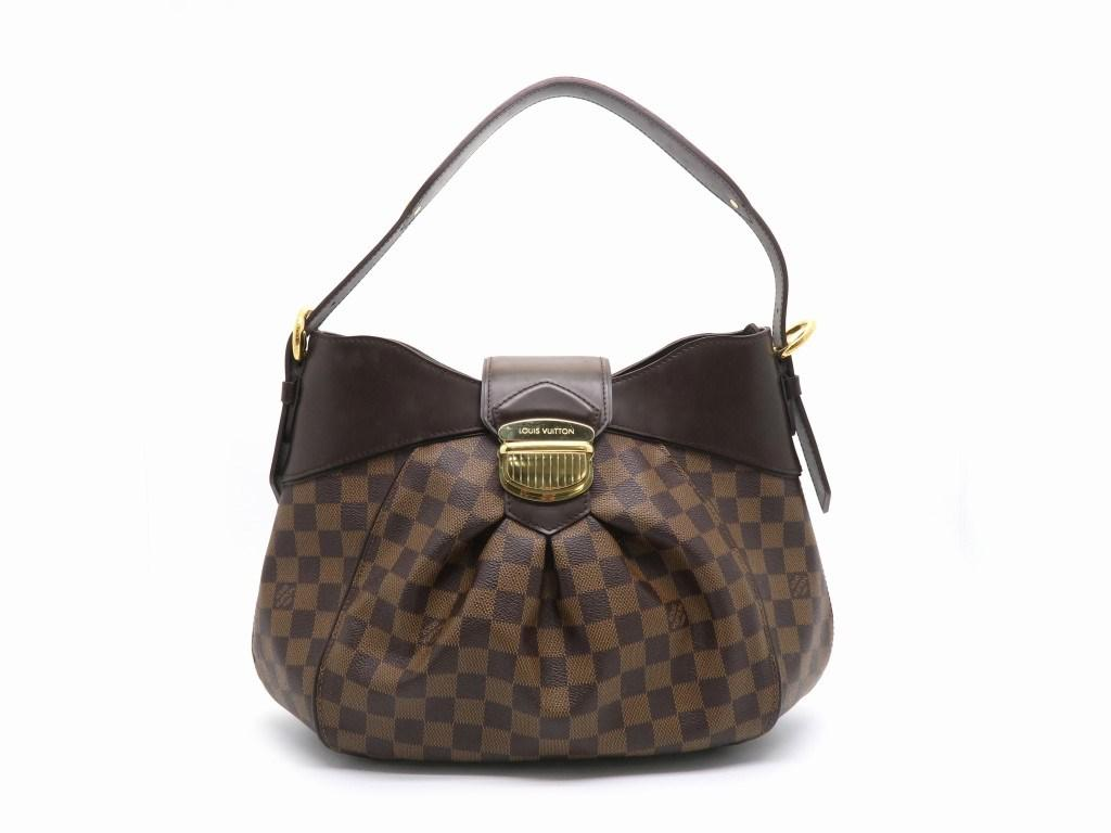 859418cef9 Lyst - Louis Vuitton Damier Sistina Mm Shoulder Bag Brown N41541 Lv ...