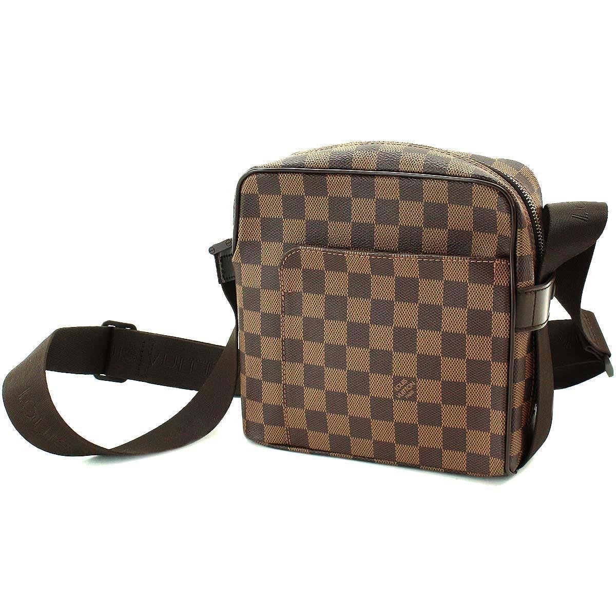 2d8a19e2a93b Lyst - Louis Vuitton Damier Olav Pm Shoulder Bag Ebene Purse N41442 ...