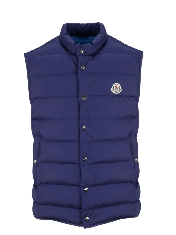 23a914ff67a5 Lyst - Moncler Men s 43933055396f74b Blue Polyamide Vest in Blue for Men