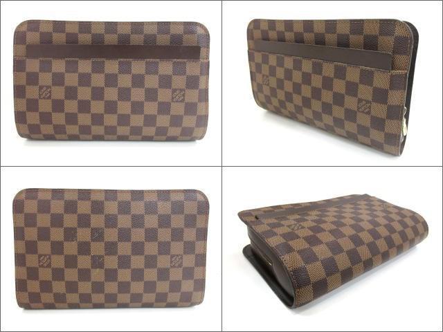 2c251bbdc7b2 Lyst - Louis Vuitton Authentic Saint Louis Clutch Bag N51993 Damier ...