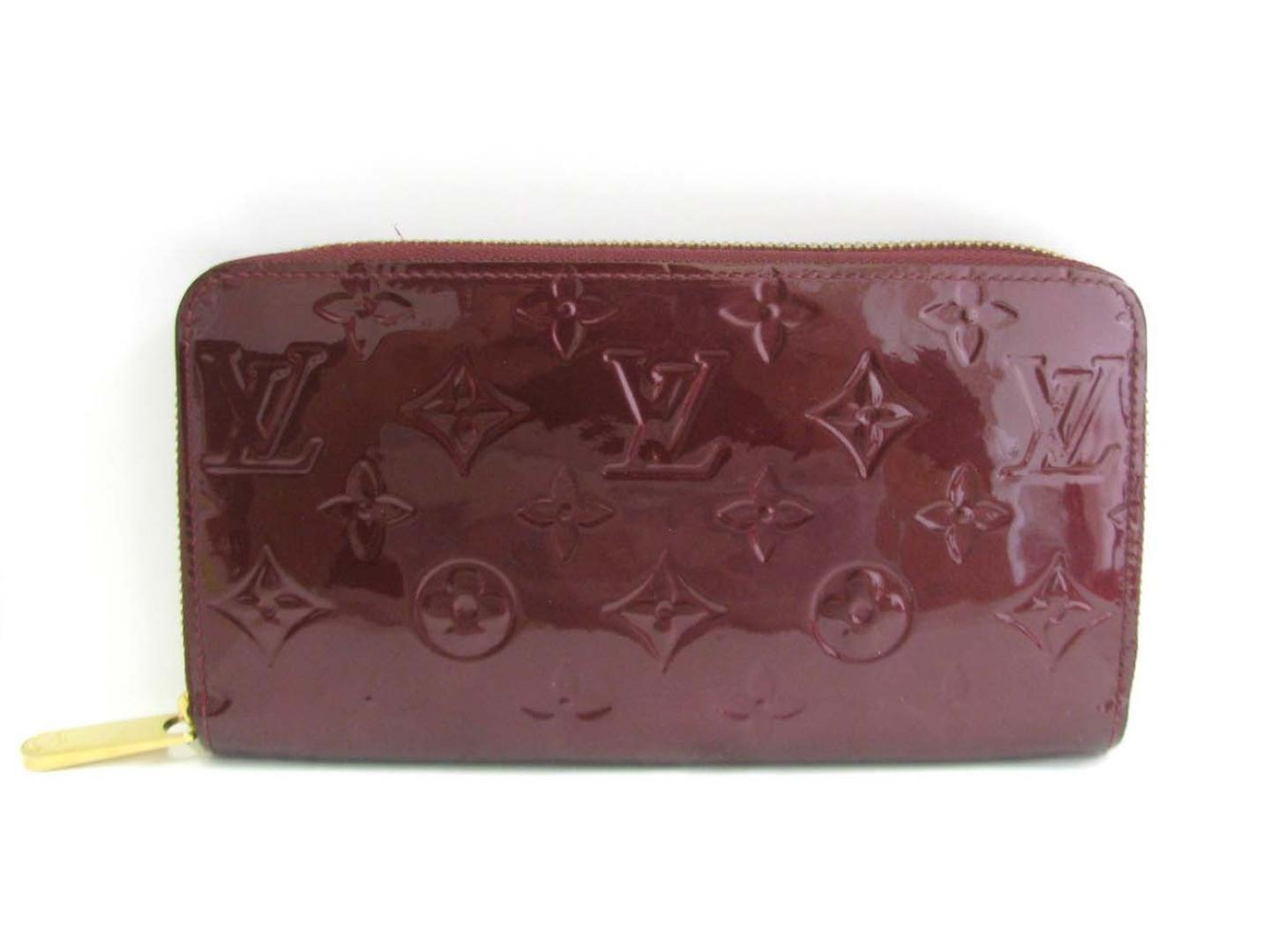 b1d5975f87fd Lyst - Louis Vuitton Auth Zippy Long Wallet Monogram Vernis Leather ...